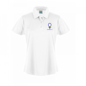 white womens polo shirt